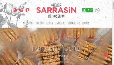 Site internet de Atelier Sarrasin