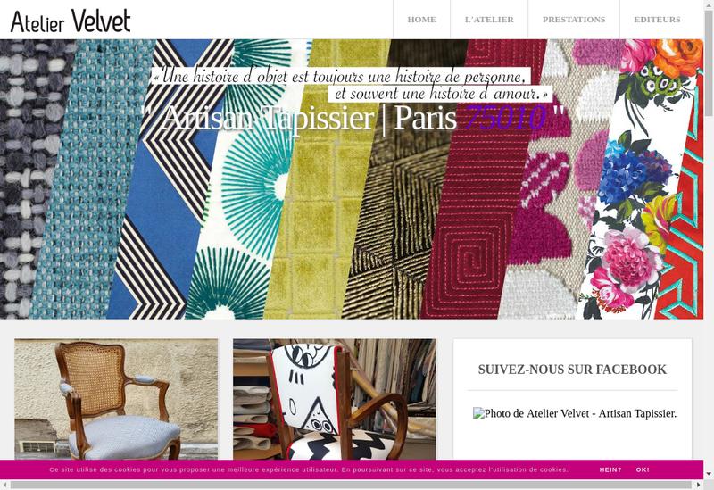 Capture d'écran du site de Atelier Velvet