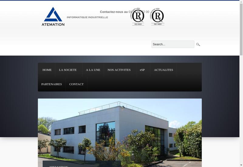 Capture d'écran du site de Atemation