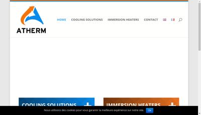 Capture d'écran du site de Atherm