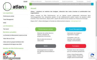 Site internet de Atlans