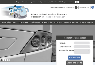Capture d'écran du site de Atlantic Autocars SAS