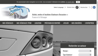 Site internet de Atlantic Autocars SAS