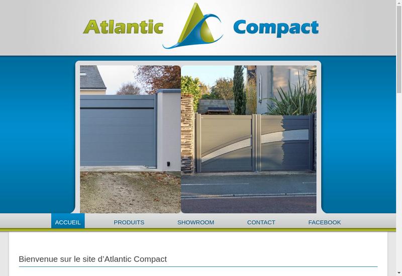 Capture d'écran du site de Atlantic Compact