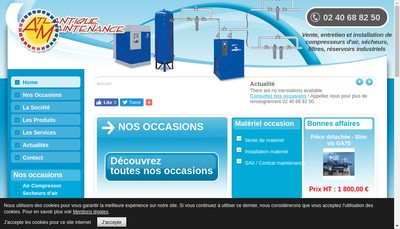 Site internet de Atlantique Maintenance