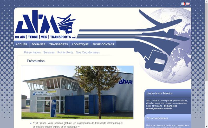 Capture d'écran du site de Atm France