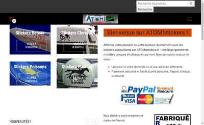 Site internet de Atomistickers Diffusion