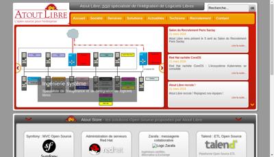 Capture d'écran du site de Atout Libre