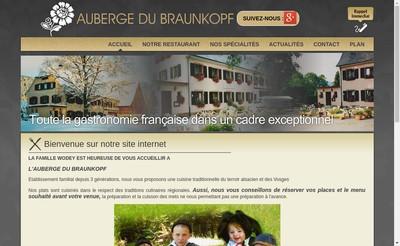 Site internet de Auberge du Braunkopf