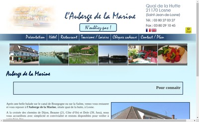Site internet de Auberge de la Marine