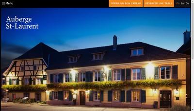 Site internet de Auberge Saint Laurent