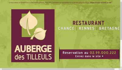 Site internet de Auberge des Tilleuls