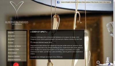 Site internet de Auberge du Paradis