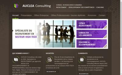 Site internet de Auclea Consulting