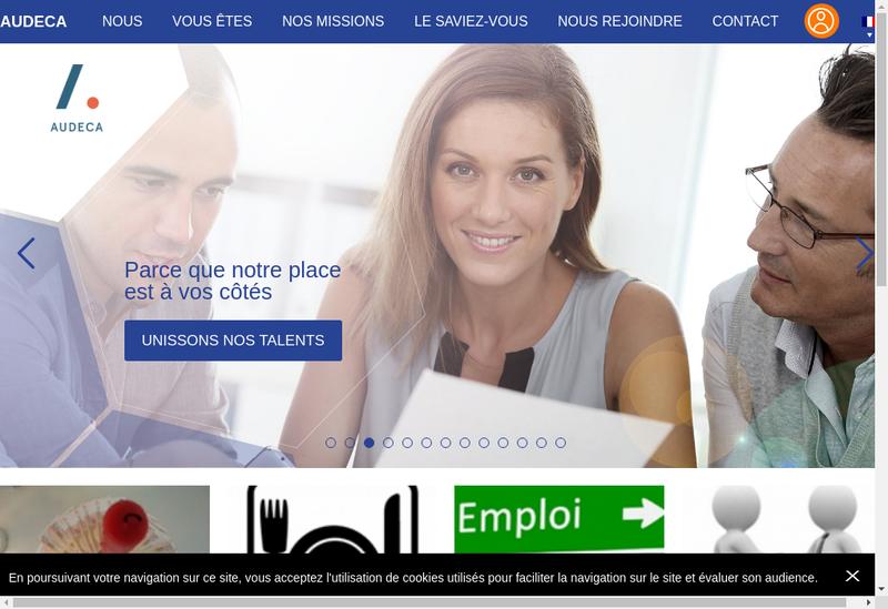 Capture d'écran du site de Andec
