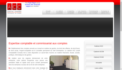 Capture d'écran du site de Axis Experts Conseils