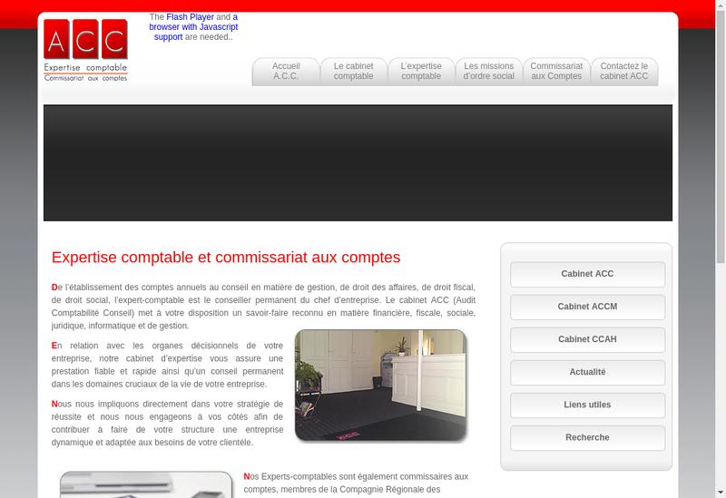 Capture d'écran du site de Alpecc