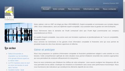 Site internet de Audit Conseil