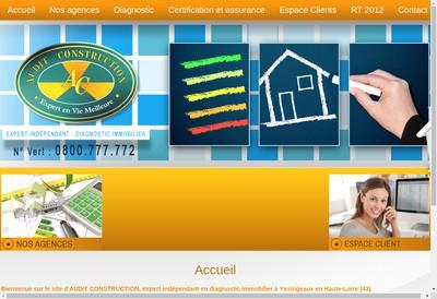 Site internet de Audit Construction
