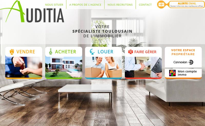 Capture d'écran du site de Auditia Transaction