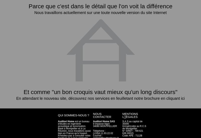 Capture d'écran du site de Auditori Home