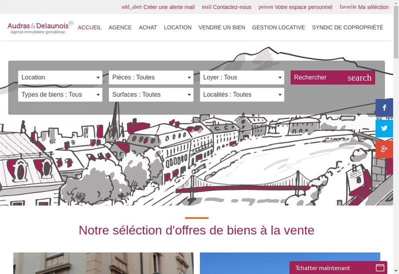 Capture d'écran du site de Audras et Delaunois