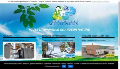 Site internet de Imprimerie Auffret Plessix