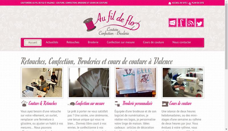 Capture d'écran du site de Au Fil de Flo