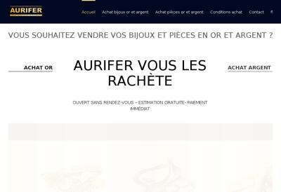 Capture d'écran du site de Aurifer