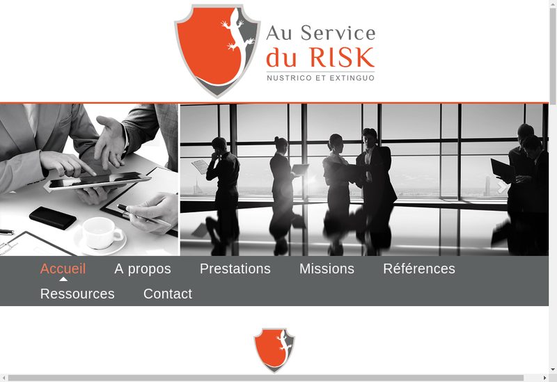 Capture d'écran du site de Au Service du Risk