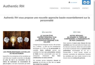 Site internet de Authentic Rh