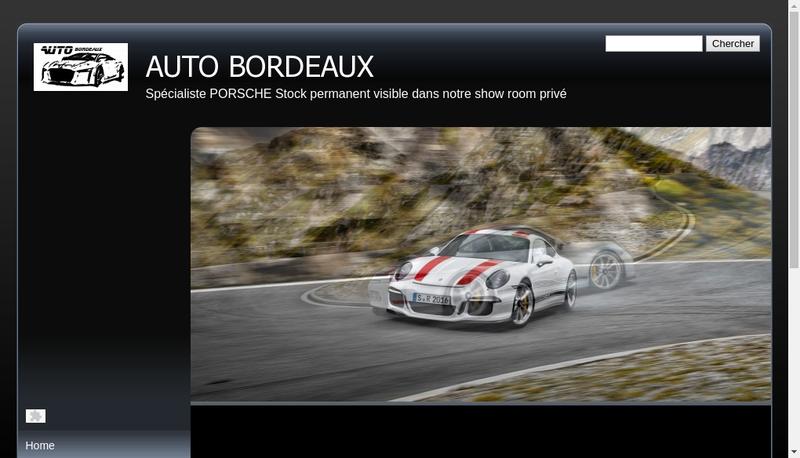 Capture d'écran du site de Auto Bordeaux