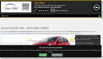Site internet de Concession Opel