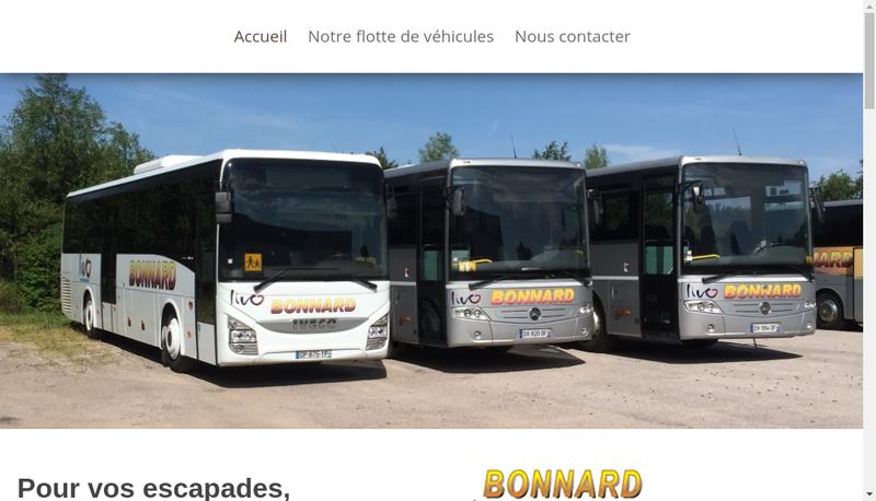 Capture d'écran du site de Autocars Bonnard
