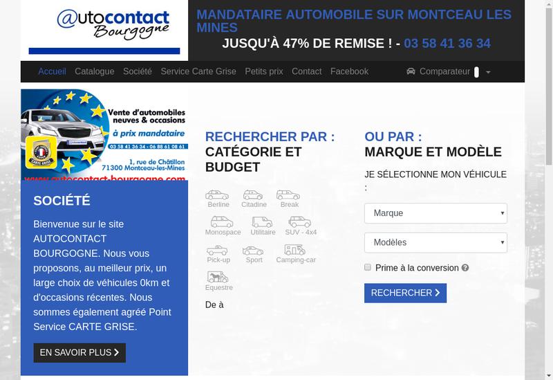Capture d'écran du site de Autocontact Bourgogne