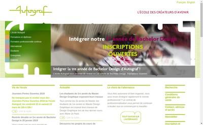 Site internet de Autographe Centre National de Formation aux Techniques de l'Aerographie Centre National du Multimedi