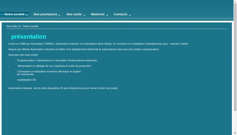 Capture d'écran du site de Automation Industrie SARL
