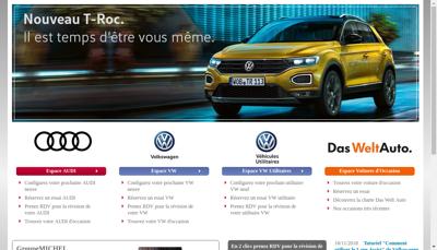 Capture d'écran du site de Automobiles Michel