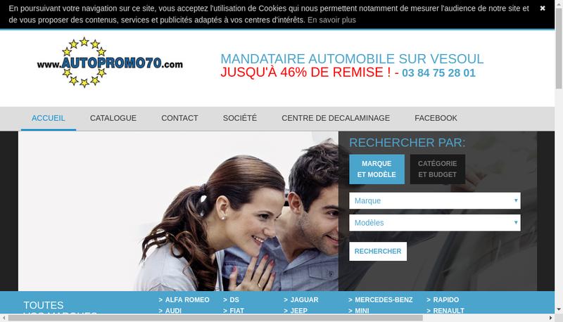 Capture d'écran du site de Auto Promo 70