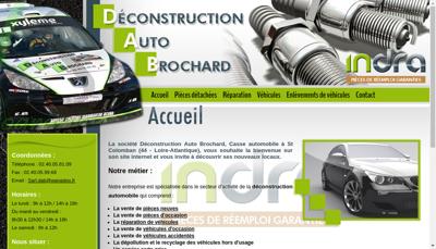 Capture d'écran du site de Deconstruction Auto Brochard
