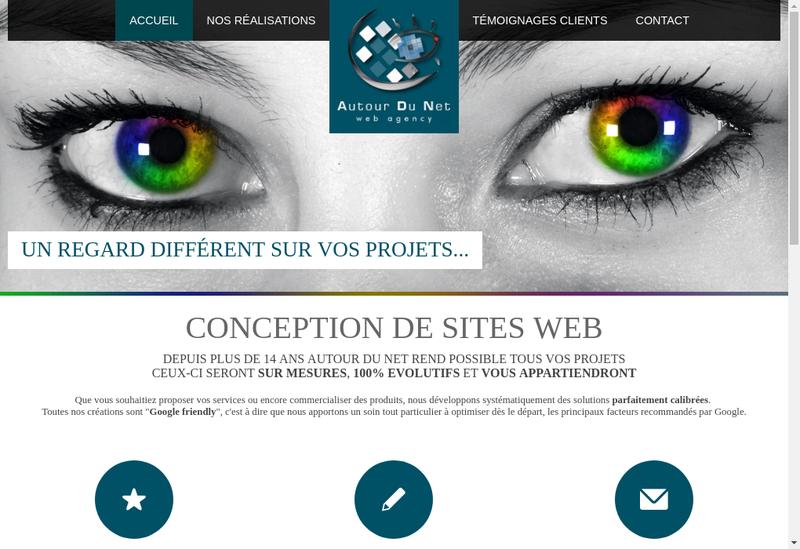 Capture d'écran du site de Autour du Net