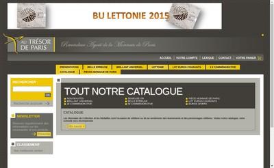 Site internet de Au Tresor de Paris
