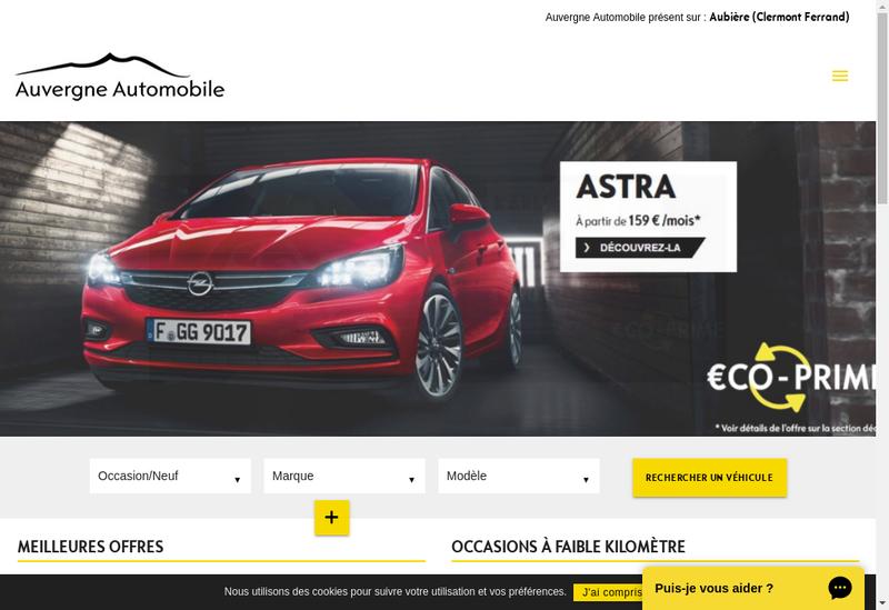 Capture d'écran du site de Auvergne Automobile