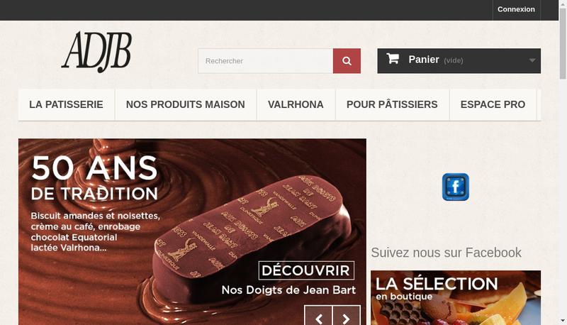 Capture d'écran du site de Aux Doigts de Jean Bart