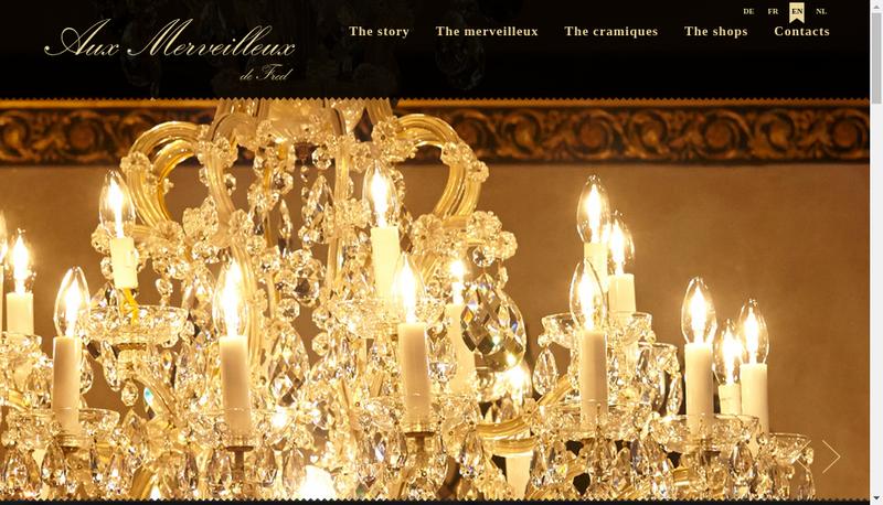 Capture d'écran du site de Aux Merveilleux Lorraine