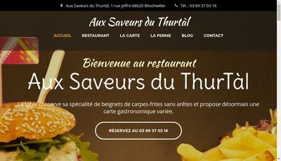 Site internet de Aux Saveurs du Thurtal