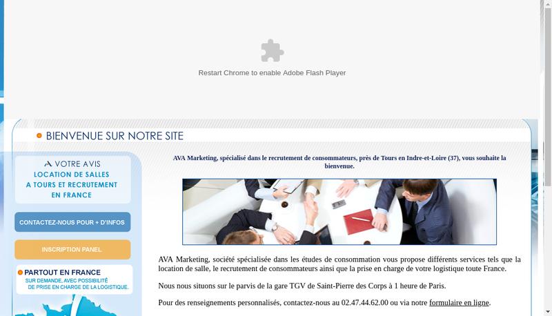 Capture d'écran du site de AVA Marketing