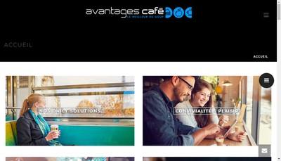 Site internet de Avantages Cafe