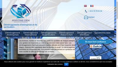 Site internet de Avantime Dem