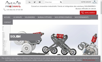Site internet de Avenao Solutions 3D